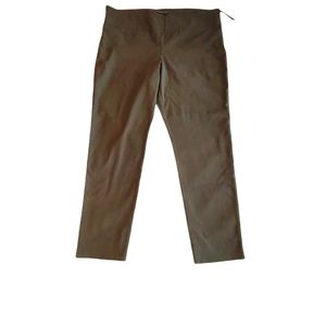 2/$25 NWT Le Chateau Olive Straight Leg Pants sz18 Stretch!
